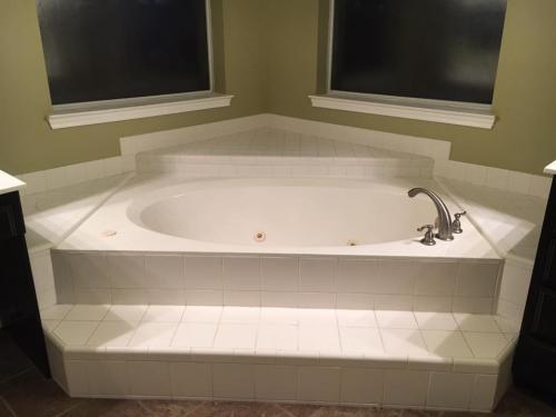 bathtub installation before