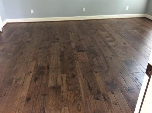 dark wood floors installed