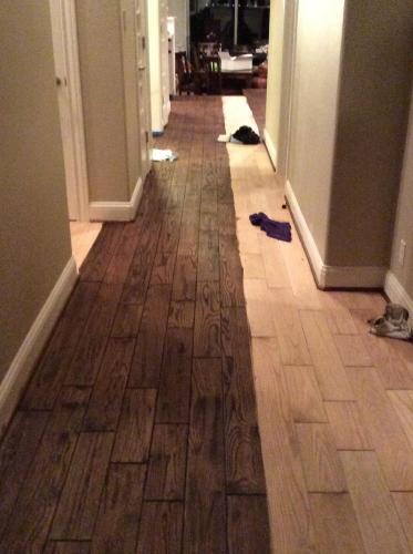 sanded and refinished hardwood flooring