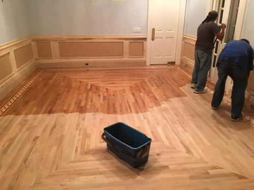 staining new floor